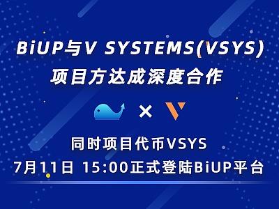 VSYS与BiUP将上线BiUP 部分币种涨幅达400%