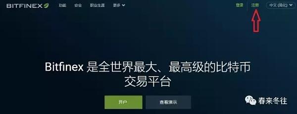 图2 Bitfinex中文语言首页