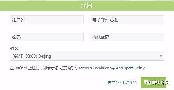 图3 Bitfinex注册页面