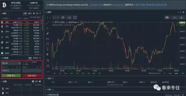 图19 Bitfinex普通交易界面