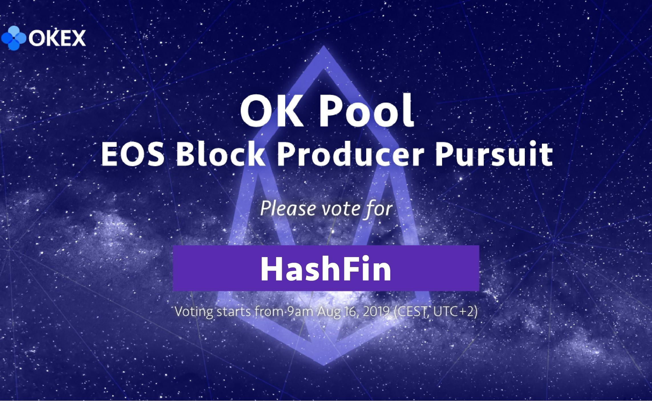 HashFin矿池正式参与Ok矿池 EOS节点英雄追逐赛