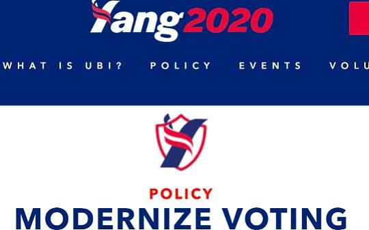 美总统候选人Andrew Yang:呼吁选举投票使用区块链技术
