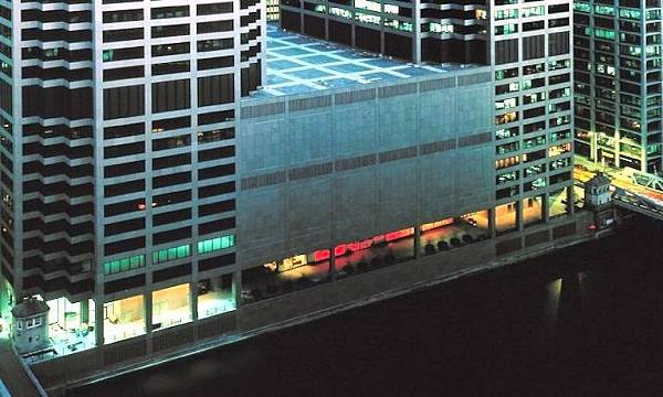 CME_Center_riverwalk_at_night