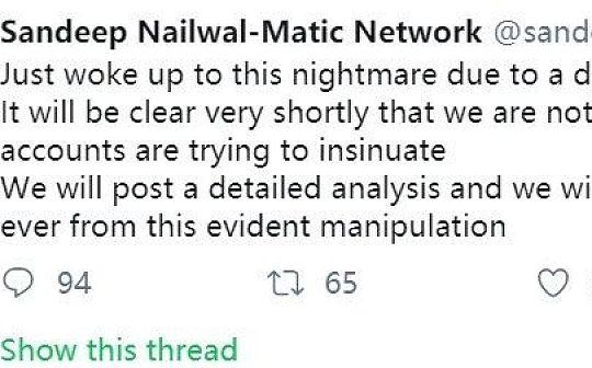 Matic Network联合创始人:刚从噩梦中醒来