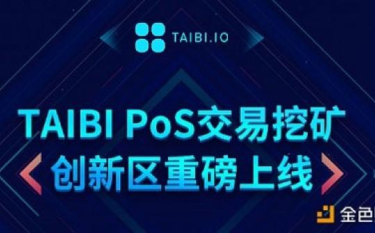 TAIBI PoS交易挖礦創新區上線半月 三項目漲幅最高672%