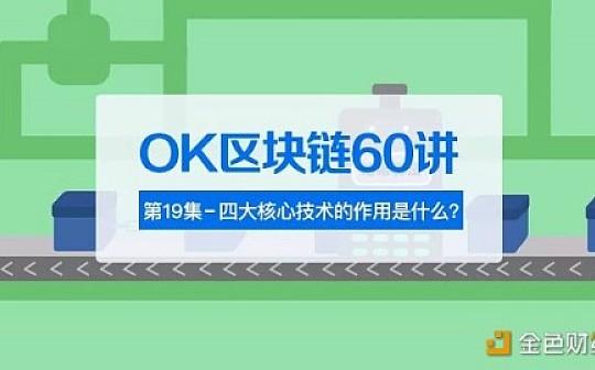 OK區塊鏈60講 | 第19集:四大核心技術的作用是什么?