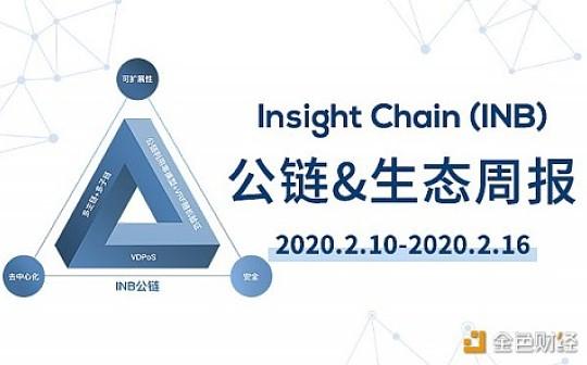 周报丨Insight Chain(INB)公链和生态周报(2020.2.10-2020.2.16)