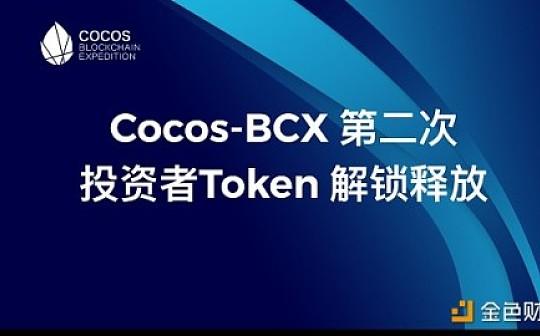 公告:Cocos-BCX第二次投资者Token解锁释放