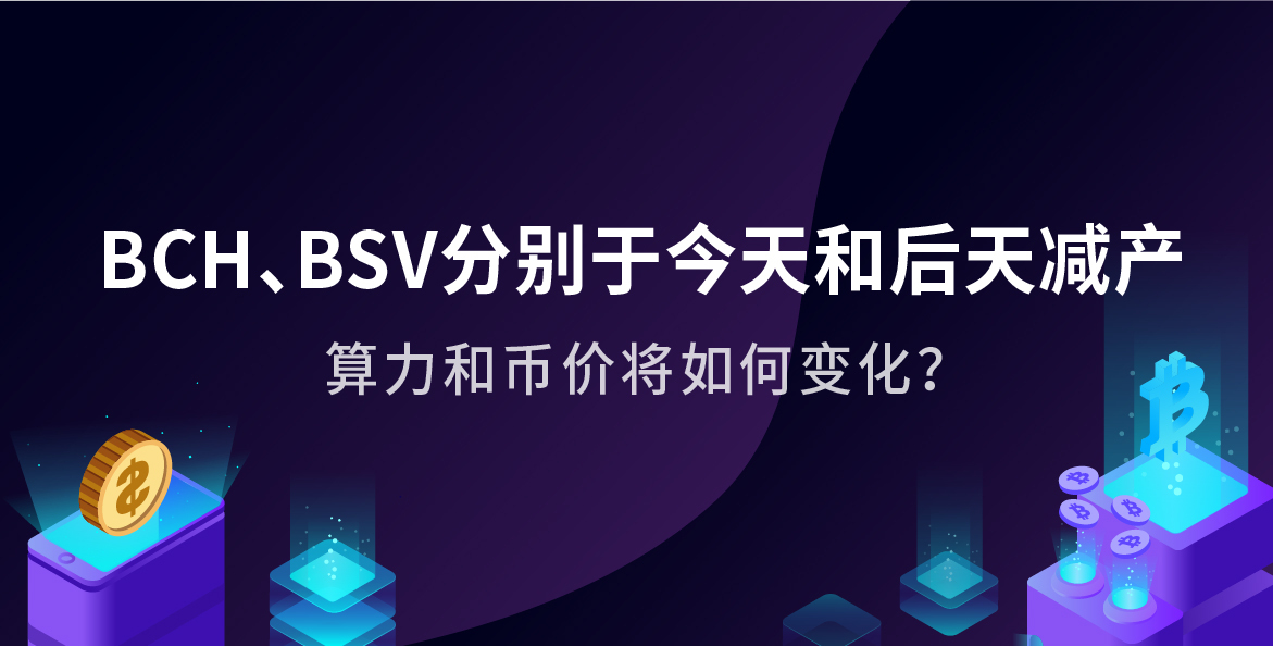BCH、BSV将于本周减产 届时算力和币价将如何变化?