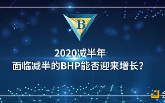 2020减半年  面临减半的BHP能否迎来增长?