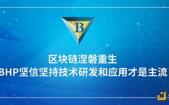 区块链涅磐重生, BHP坚信坚持技术研发和应用才是主流