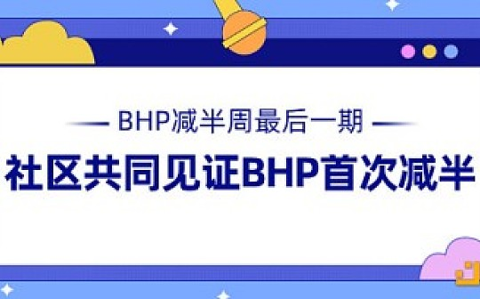 BHP减半周最后一期 社区共同见证BHP首次减半