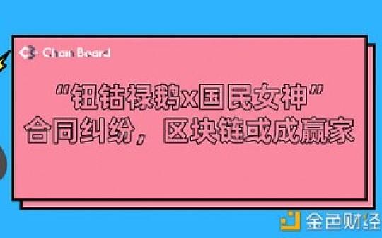 """""""钮钴禄鹅x国民女神""""合同纠纷  区块链或成赢家"""