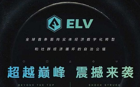 区块链时代 如何布局投资 ELV是你选择的最优资产