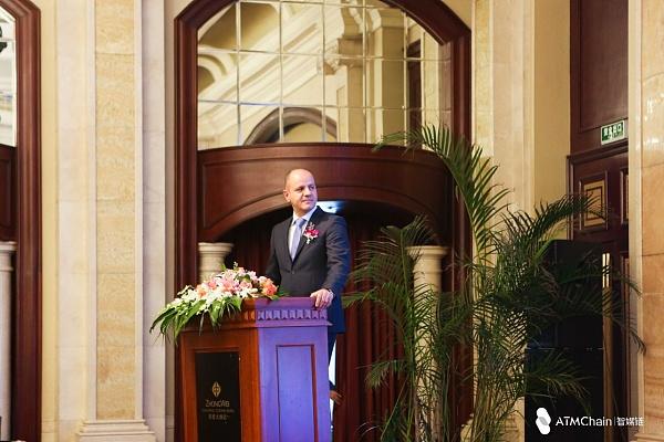 (瑞士智媒链基金会主席Mr.Usama先生 图片来源:金色财经、智媒链)