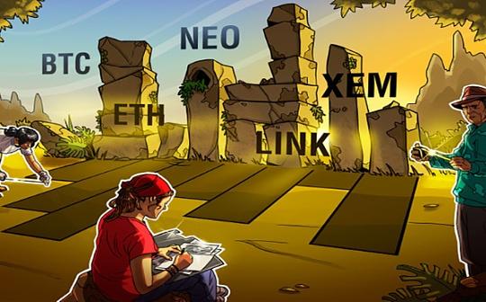 本周需关注加密货币:BTC、ETH、LINK、NEO、XEM