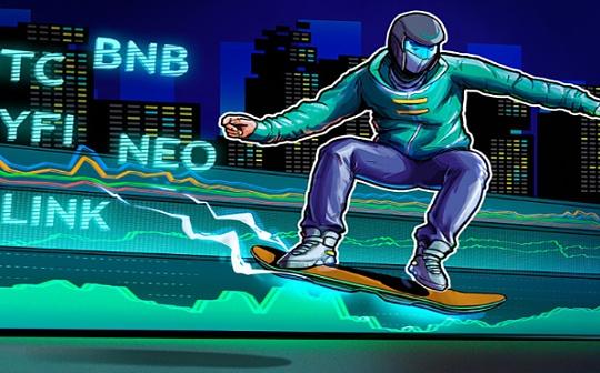 本周关注的加密货币:BTC、BNB、NEO、YFI、LINK