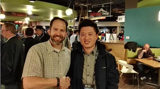 刘海峰先生与微软首席项目经理Scott Hansleman于西雅图洽谈项目合作