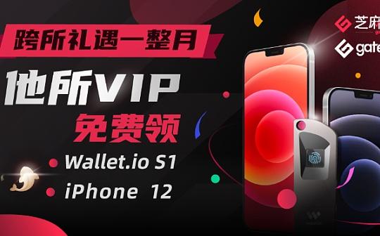 Gate.io 跨所礼遇一整月:他所VIP免费领Wallet.io S1、iPhone 12活动公告