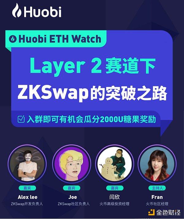 对话ZKSwap:Layer2 的市场规模将占以太坊市值的20%-30%