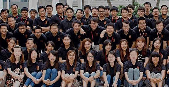 火币网团队成员合照  图片来源:金色财经