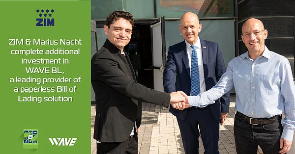 区块链企业WAVE BL 无纸提单供应商 获以星航运ZIM及Marius Nacht 联合投资