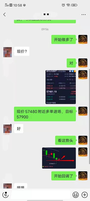 杨灵盘币:57480的多单小赚420个点 收益不错 你跟上了吗