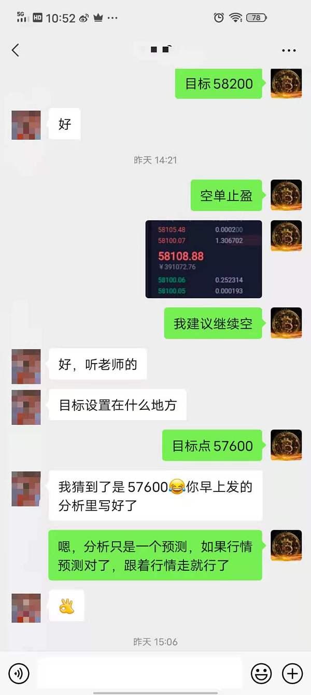 杨灵盘币:BTC58600的空单实现一天之内翻仓 昨天3200多点的跌幅你收获多少
