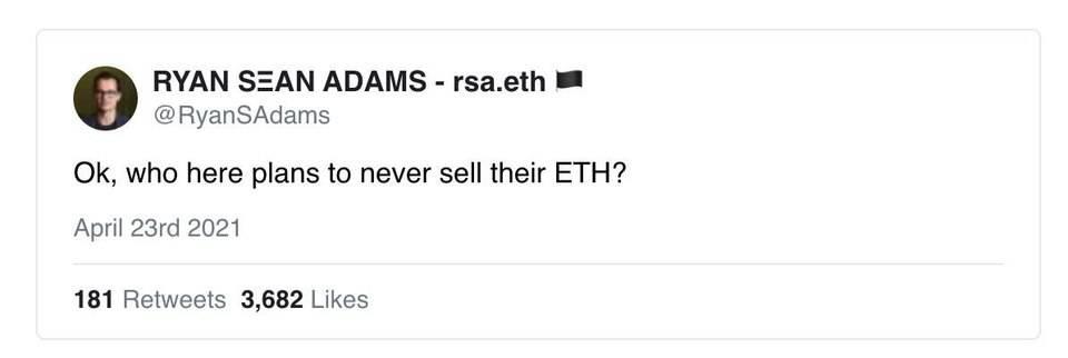 观点:为什么我永远不会卖出 ETH?
