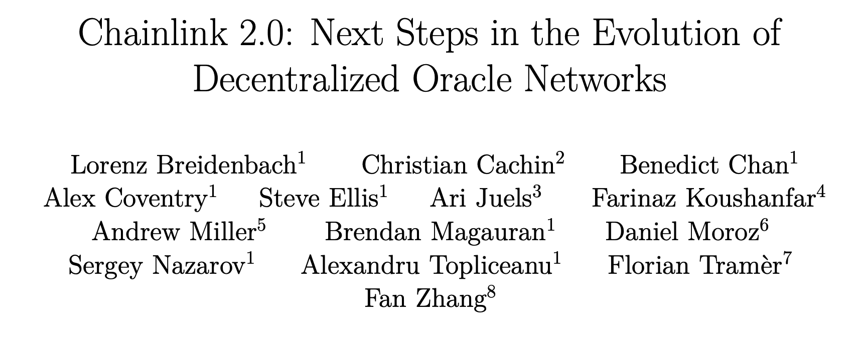 Chainlink 2.0 白皮书问题出在哪?