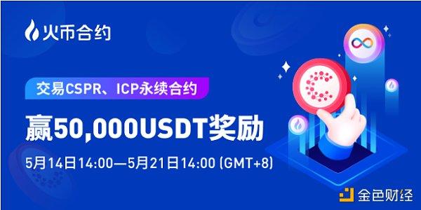 """火币合约推出""""交易CSPR、ICP永续合约 送5万USDT奖励""""活动插图"""