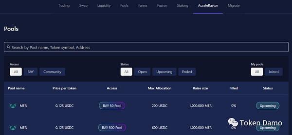 Mercurial Finance:Raydium IDO流程指南插图1