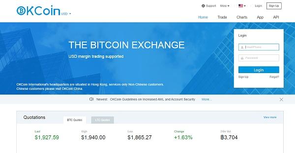 OKCoin国际网站首页