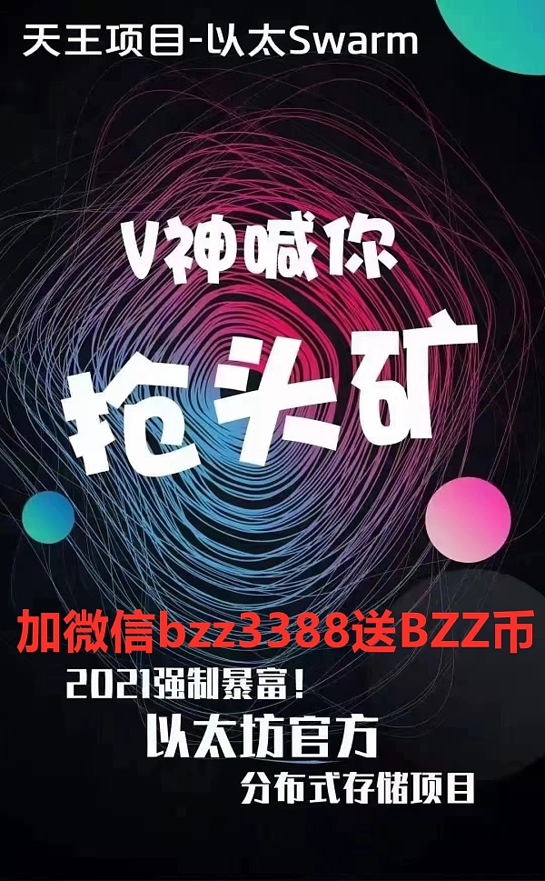 V神亲自来中国为Swarm站台 BZZ必将一飞冲天
