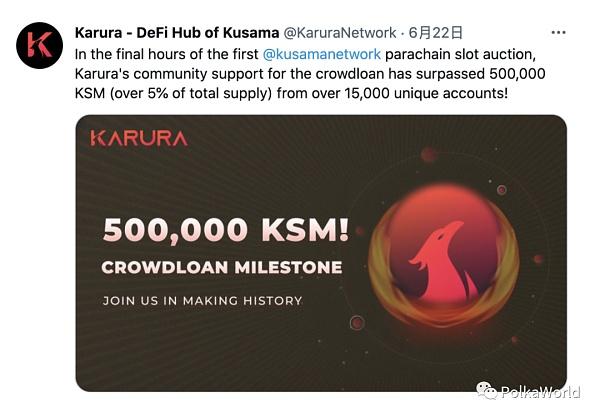 6月波卡生態:Kusama插槽競拍如火如荼 已接入 3 條平行鏈