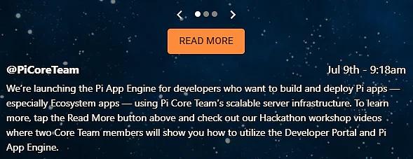 pi更新、Pi币推出云计算平台、为开发者构建应用程序提供服务。