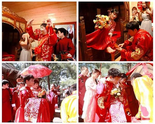 广西合浦美人鱼古郡举行海岸古俗疍家婚礼