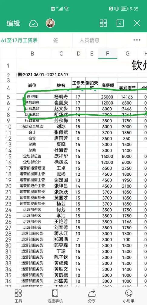 曝光:广西钦州米娅酒吧拖欠员工工资