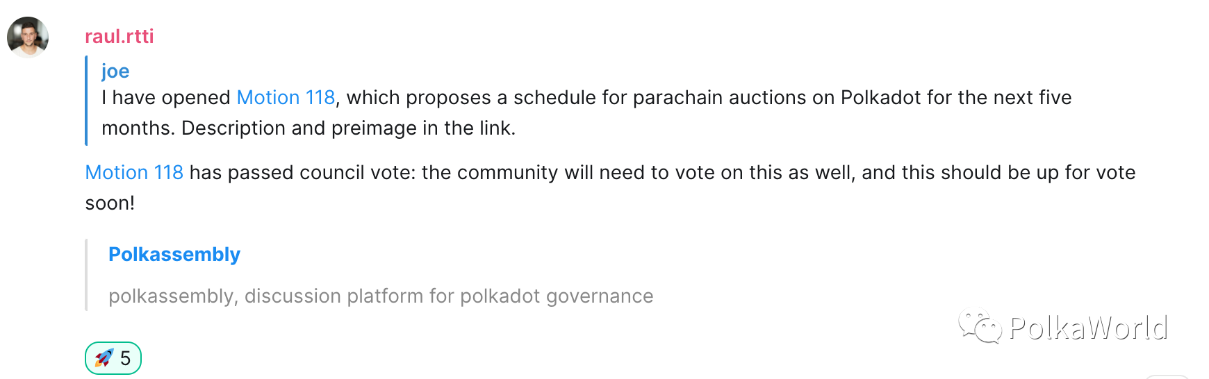 The Polkadot Parachain auction will open on November 11, the first round of auctions will be held in 5 times