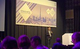 HLC联合创始人Abdullah Han在2018中东金融科技创新峰会上发表主旨演讲