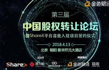 ShareX携手潜力股平台共同举办第三届中国股权转让论坛,探索中国股权投资新趋势
