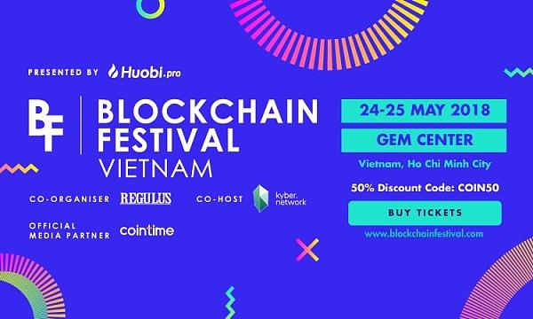 """火币主办的""""Blockchain Festival""""峰会本月底在越南举行,售票正式开始"""