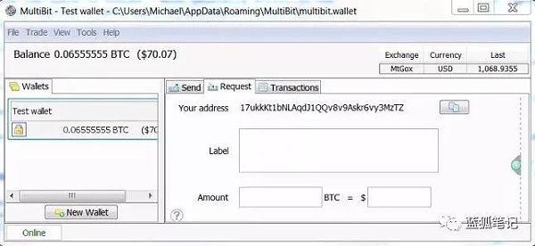 Multbit的钱包