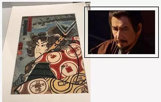博物馆中展示的大名真田昌幸的画像,在《真田丸》中由草刈正雄饰