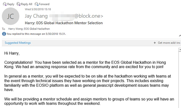 LongHash孵化项目 everiToken 获得EOS Hackathon 技术指导资格