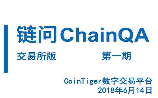 链问ChainQA百人百问第一期:CoinTiger专场|交易所版